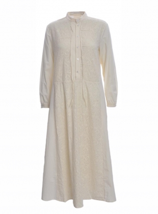 Young British Designers: Cotton & Lace Cream Shirt Dress by Renli Su