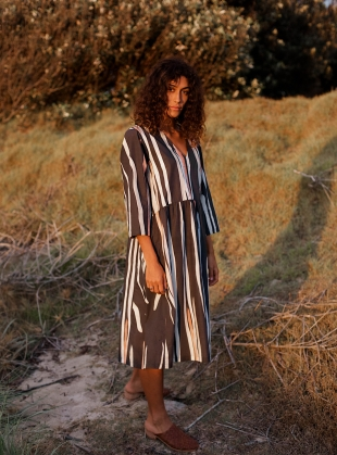 MALLEE SMOCK DRESS. Gumtree Print by COR