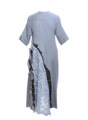 Young British Designers: Azure Asymmetric Cracked Shirt Dress by WEN PAN