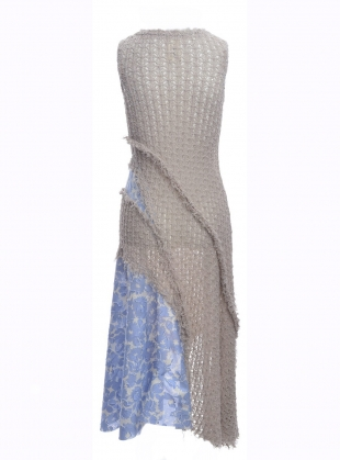 Young British Designers: Sleeveless Asymmetric Dress in Mouse - last one (s) by WEN PAN