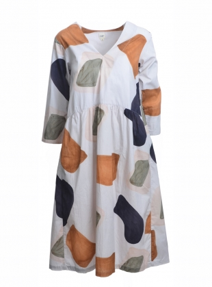 Young British Designers: MALLEE SMOCK DRESS. Hinterland Print by COR Clothes