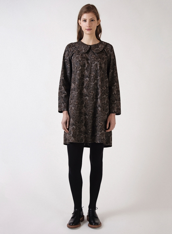 Young British Designers: Paisley Poplin BASE DRESS - Last one by Kate Sheridan