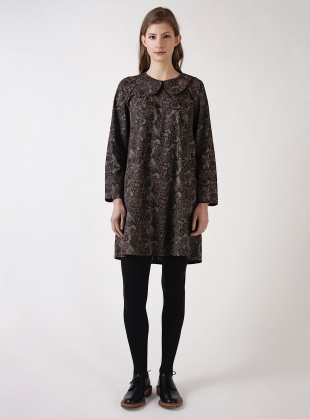 Young British Designers: Paisley Poplin BASE DRESS by Kate Sheridan