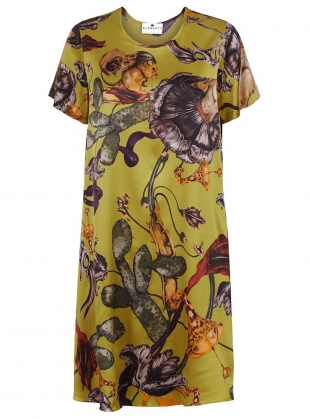 THE FREIDA DRESS in Freaks Acid Print by Klements
