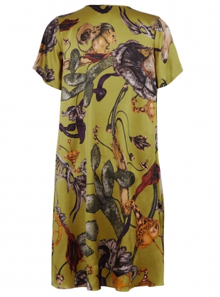 Young British Designers: THE FREIDA DRESS in Freaks Acid Print by Klements