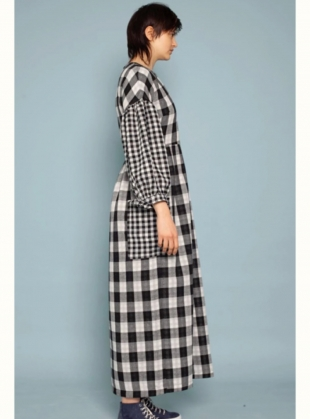 Young British Designers: JOE DRESS. Black Check - Last one (14) by LF Markey