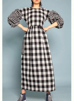 JOE DRESS. Black Check by LF Markey