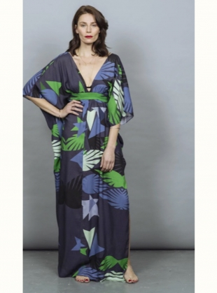 SALINA KAFTAN DRESS. Jardin Blue by Tallulah & Hope