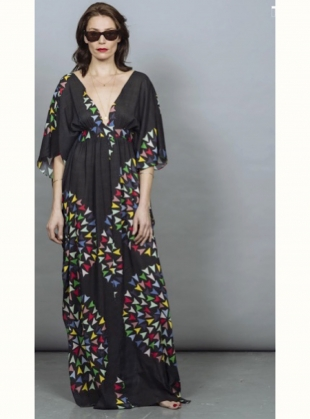 SALINA KAFTAN DRESS. Skyranger Black by Tallulah & Hope