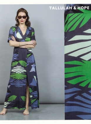 Young British Designers: SOPHIE DRESS. Jardin Blue by Tallulah & Hope