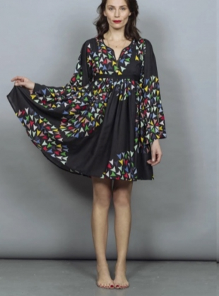 GRACE SMOCK DRESS. Skyranger Black by Tallulah & Hope