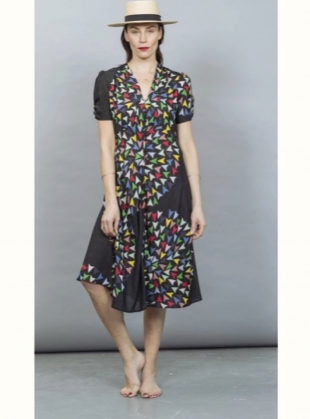 MEL BIAS CUT DRESS. Skyranger Black - Last one(M) by Tallulah & Hope