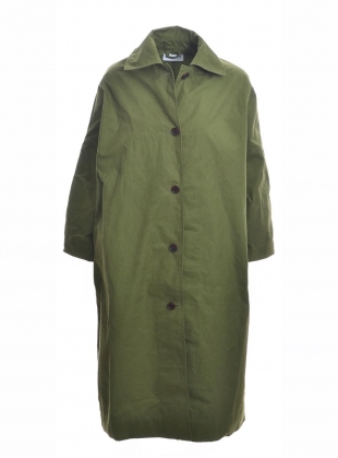 FARO OILSKIN MAC. Grass Green by Cawley