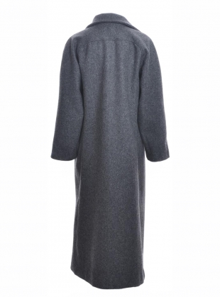 Young British Designers: ANNIE WOOL COAT. Charcoal Grey by Cawley