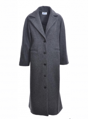 ANNIE WOOL COAT. Charcoal Grey by Cawley