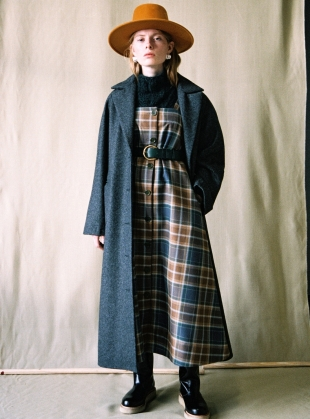 ANNIE WOOL COAT. Charcoal Grey - last one (xs) by Cawley