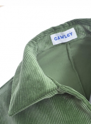Young British Designers: AVIS CORD JACKET. Sage Green by Cawley