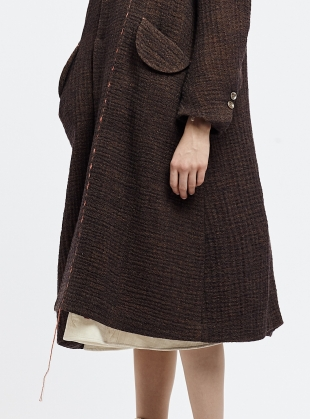 Young British Designers: The Artisan Cocoa Wool Coat by Renli Su
