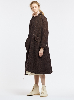The Artisan Cocoa Wool Coat by Renli Su