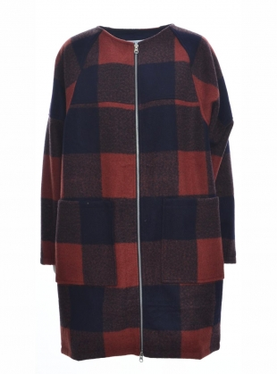 CHECKED DOT COAT by SIDELINE