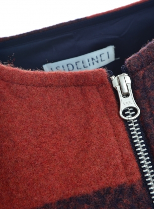 Young British Designers: CHECKED DOT COAT by SIDELINE