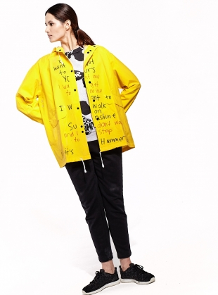 RAIN JACKET. Yellow by Simeon Farrar