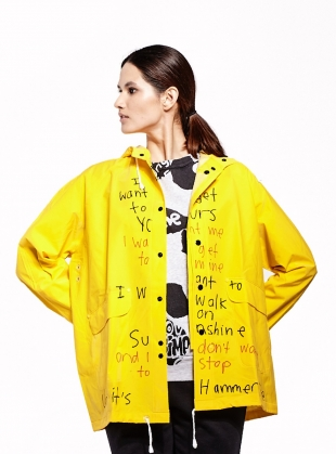 RAIN JACKET. Yellow - last one (M) by Simeon Farrar