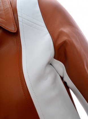 Young British Designers: MOOR LEATHER JACKET - Last one (12) by Eudon Choi
