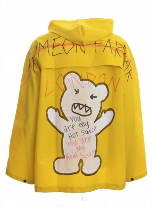 Young British Designers: RAIN JACKET. Yellow by Simeon Farrar