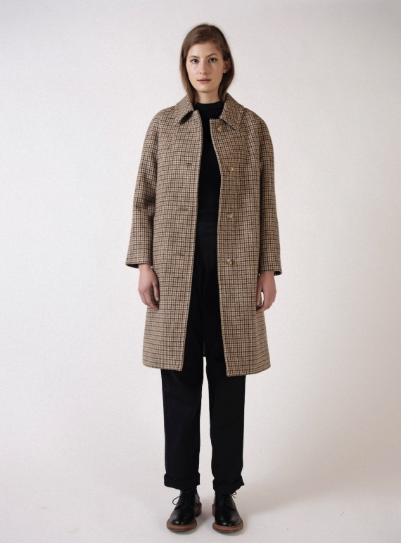 Young British Designers: The LOUIS HERITAGE CHECK WOOL COAT - Last one (S/M) by Kate Sheridan