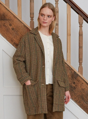 JUNE-ANNE COAT in Multi Check by Beaumont Organic