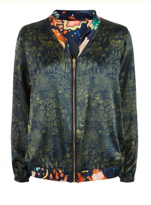 PENNY REVERSIBLE BOMBER in Lucid & Abandoned Village Print by Klements