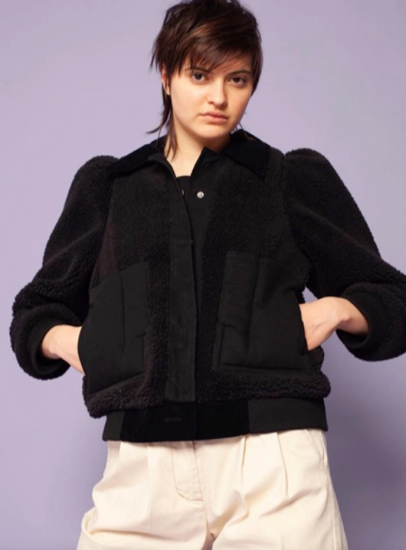 Young British Designers: LAWRENCE COAT. Black  by LF Markey