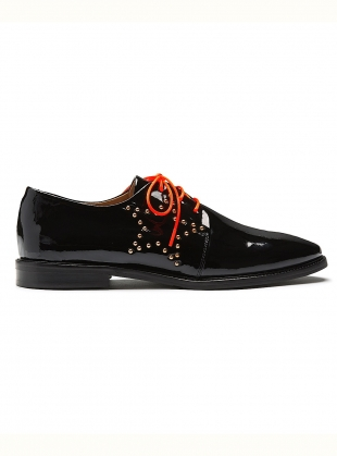 STARSTRUCK. Black Patent Brogues. by Rogue Matilda