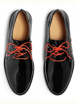 Young British Designers: STARSTRUCK. Black Patent Brogues. by Rogue Matilda