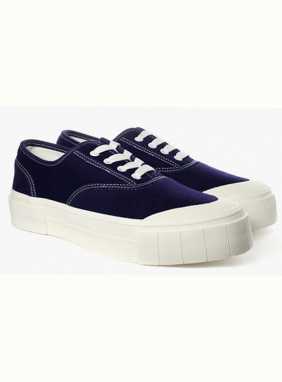 Young British Designers: SOFTBALL 2 Trainer. Classic NAVY - last pair (5) by Good News