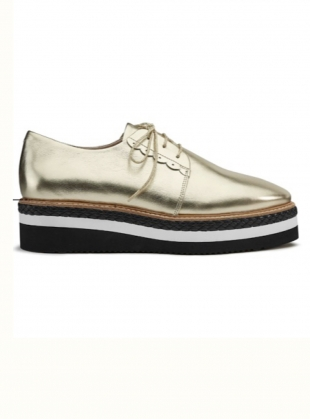 SKY HIGH Brogue. Gold  by Rogue Matilda