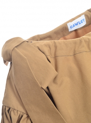 Young British Designers: BARCO BLOUSE. Khaki - Last one (XXS) by Cawley