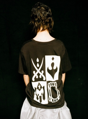 Young British Designers: SISTERS SHORT SLEEVE T-SHIRT. Black by Natalie B Coleman