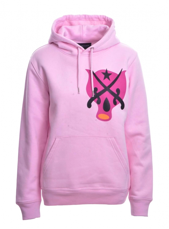 Young British Designers: HORNED UTERUS HOODIE. Pink - last one (L) by Natalie B Coleman