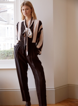 Young British Designers: WILD STORM Striped Oversized BLOUSE by Kelly Love
