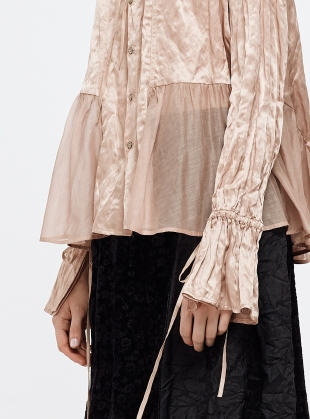 Young British Designers: Dusty Pink Mulberry Silk Shirt by Renli Su