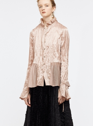 Dusty Pink Mulberry Silk Shirt - Last one (S) by Renli Su