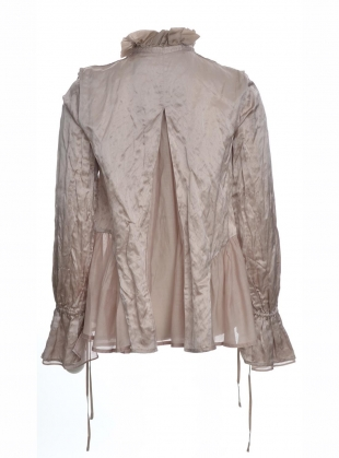 Young British Designers: Dusty Pink Mulberry Silk Shirt - Last one (S) by Renli Su