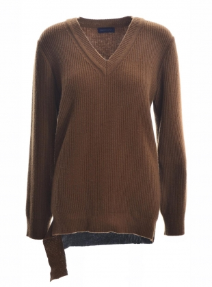 ANETTA V-NECK BOYFRIEND JUMPER by Eudon Choi