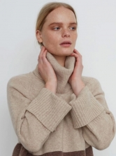 NELL JUMPER in Oat and Brown - Last one (s)