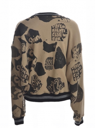 Young British Designers: TORN PAPER DOLMAN SWEAT - Last one (L) by Simeon Farrar
