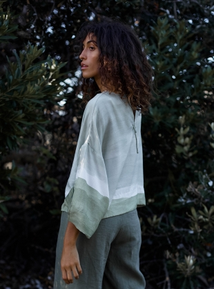Young British Designers: BANKSIA TIE TOP by COR Clothes