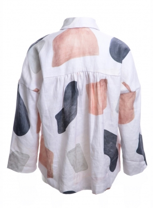 Young British Designers: CASSIA SHIRT. Hinterland Print - Last one (8) by COR Clothes