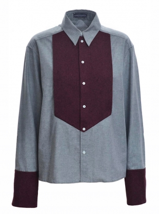 Contrast BIB BOY SHIRT by Harriet Eccleston